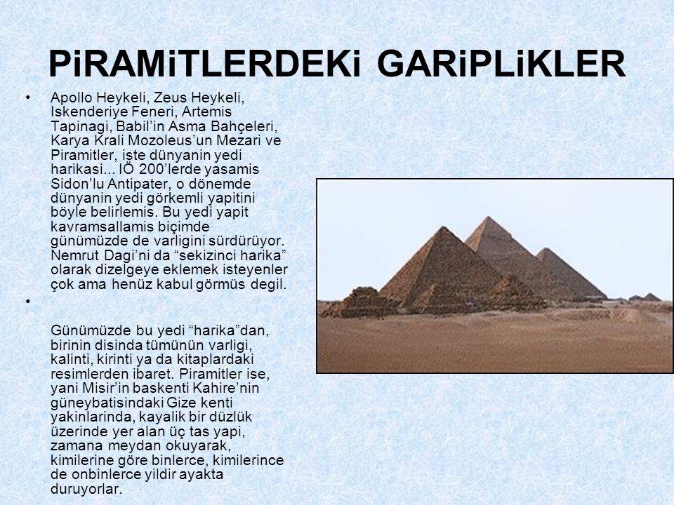 PiRAMiTLERDEKi GARiPLiKLER