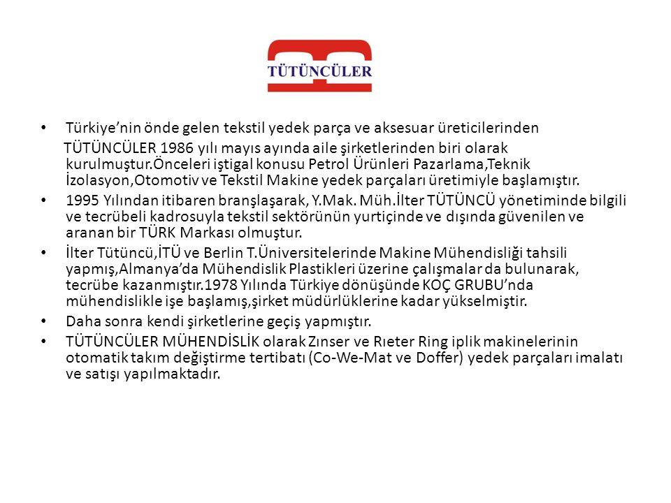 Türkiye'nin önde gelen tekstil yedek parça ve aksesuar üreticilerinden
