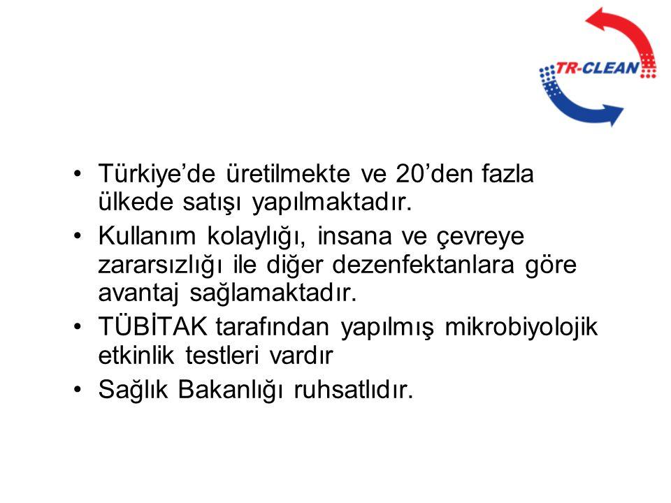 Türkiye'de üretilmekte ve 20'den fazla ülkede satışı yapılmaktadır.