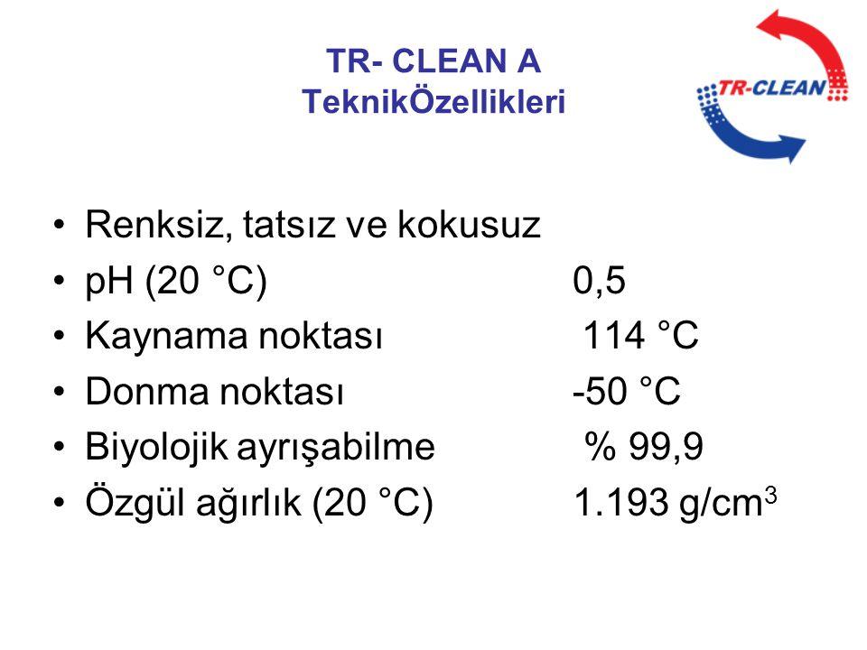 TR- CLEAN A TeknikÖzellikleri
