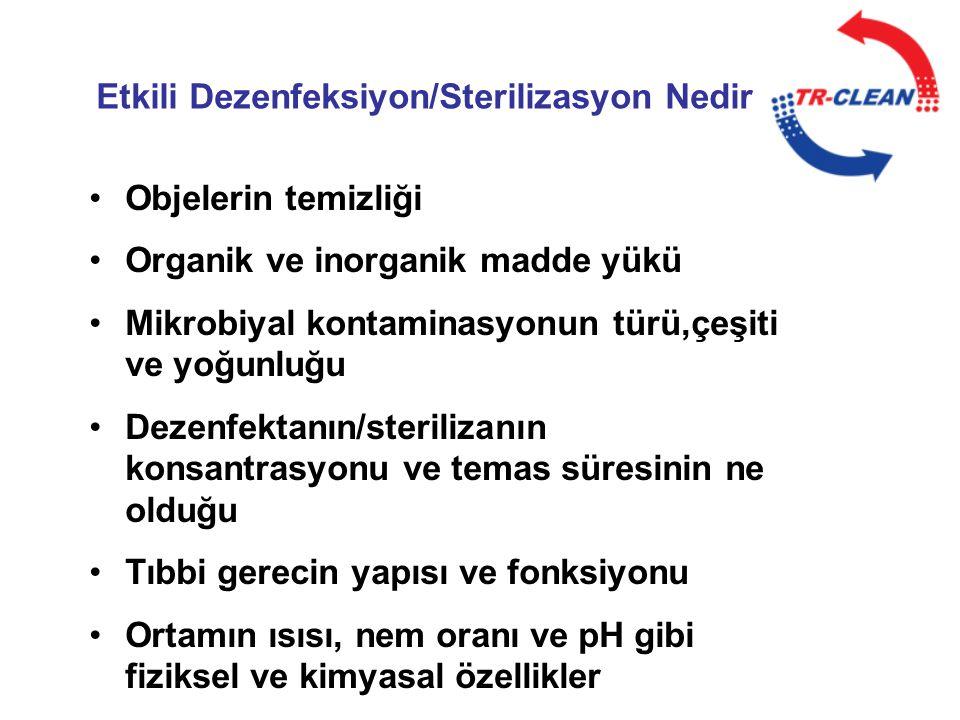 Etkili Dezenfeksiyon/Sterilizasyon Nedir