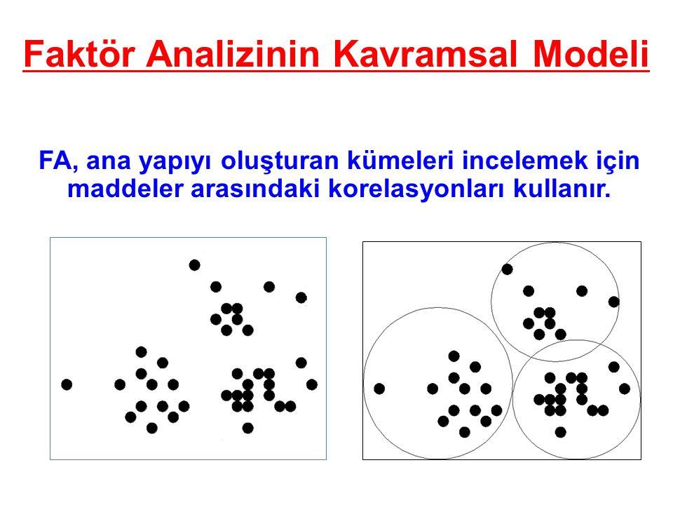 Faktör Analizinin Kavramsal Modeli