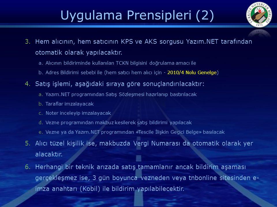 Uygulama Prensipleri (2)