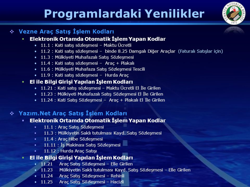 Programlardaki Yenilikler