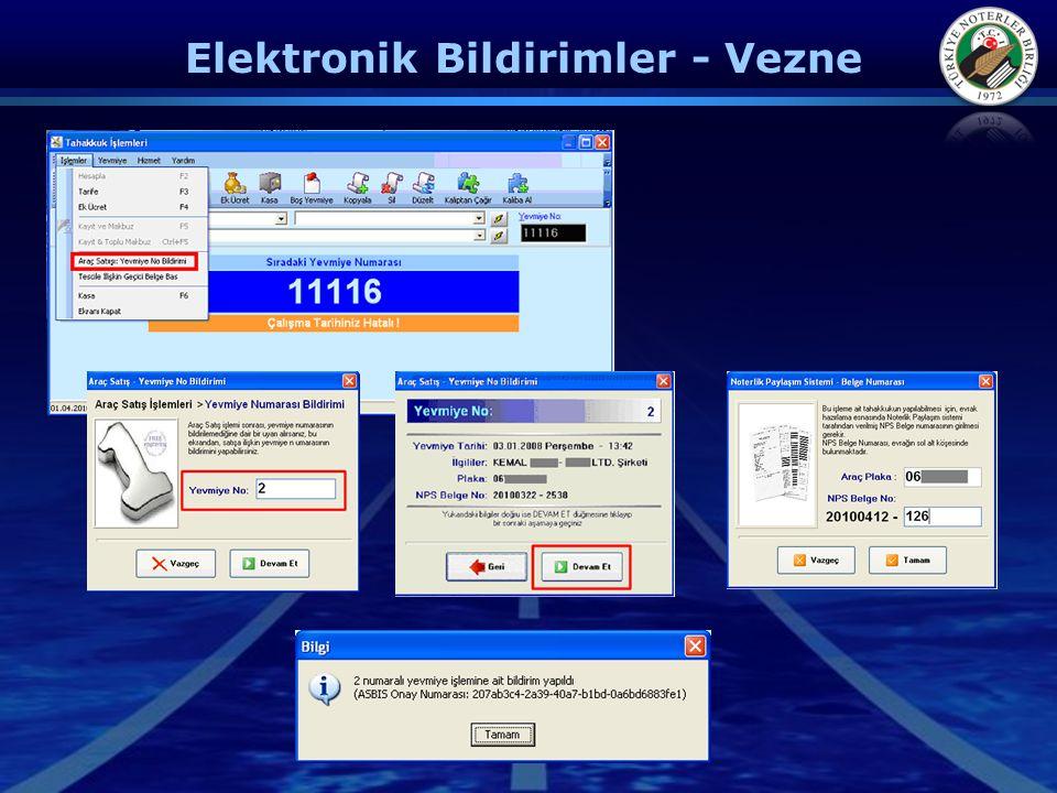 Elektronik Bildirimler - Vezne