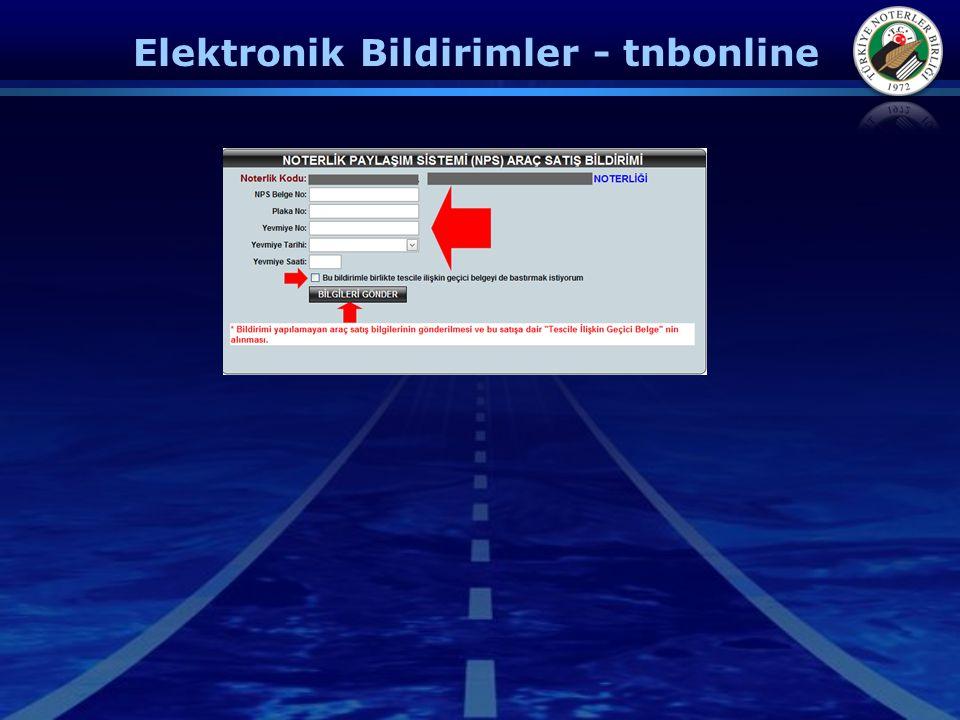 Elektronik Bildirimler - tnbonline
