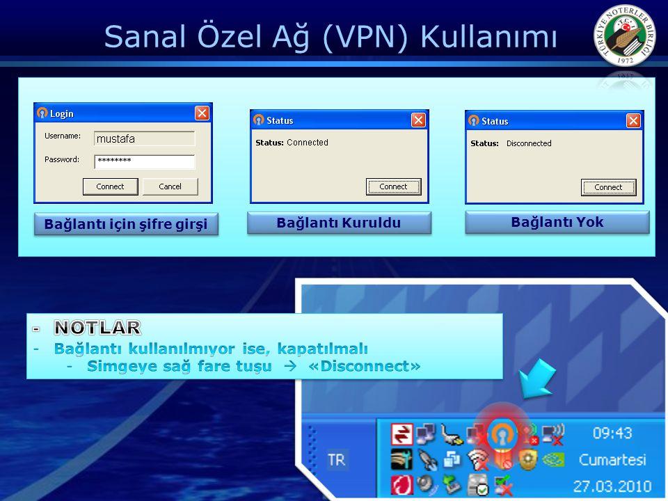 Sanal Özel Ağ (VPN) Kullanımı