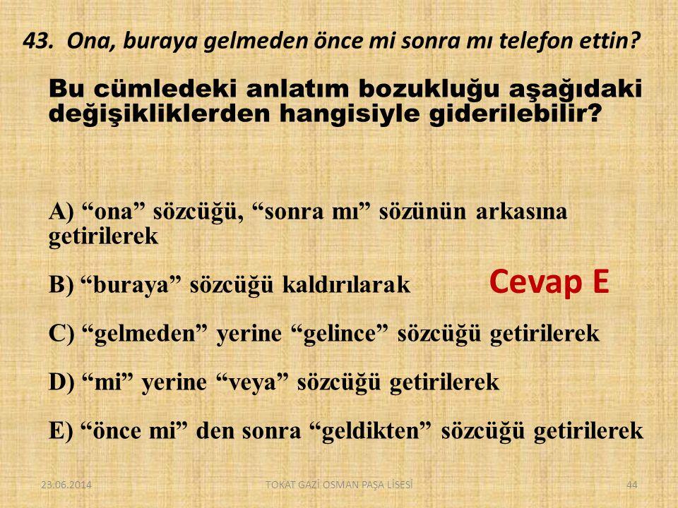 TOKAT GAZİ OSMAN PAŞA LİSESİ