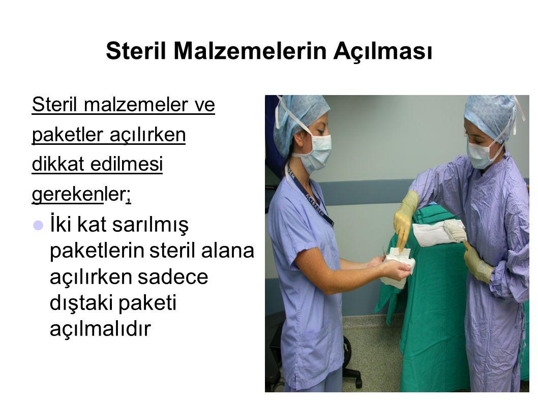 Steril Malzemelerin Açılması
