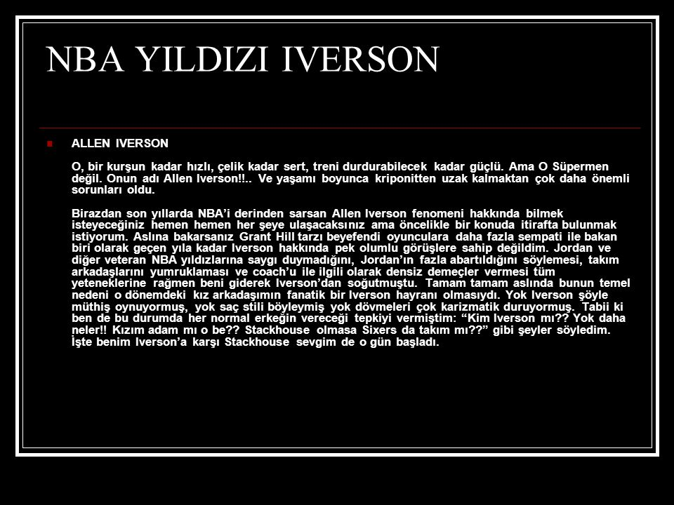 NBA YILDIZI IVERSON