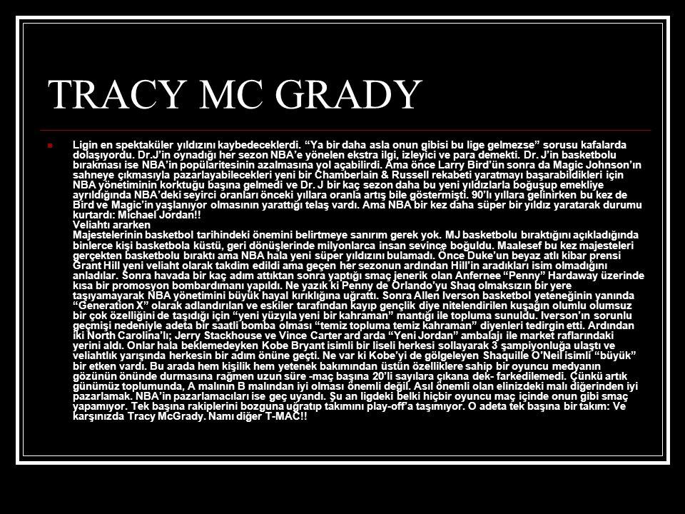 TRACY MC GRADY