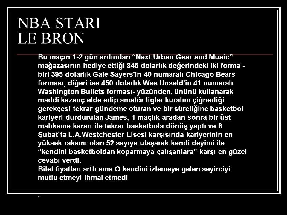 NBA STARI LE BRON