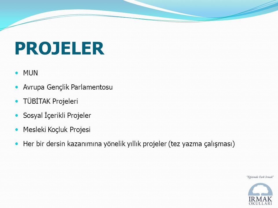 PROJELER MUN Avrupa Gençlik Parlamentosu TÜBİTAK Projeleri