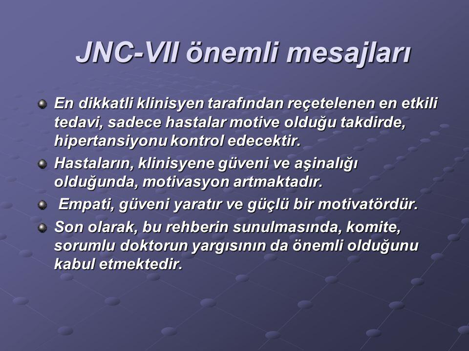 JNC-VII önemli mesajları