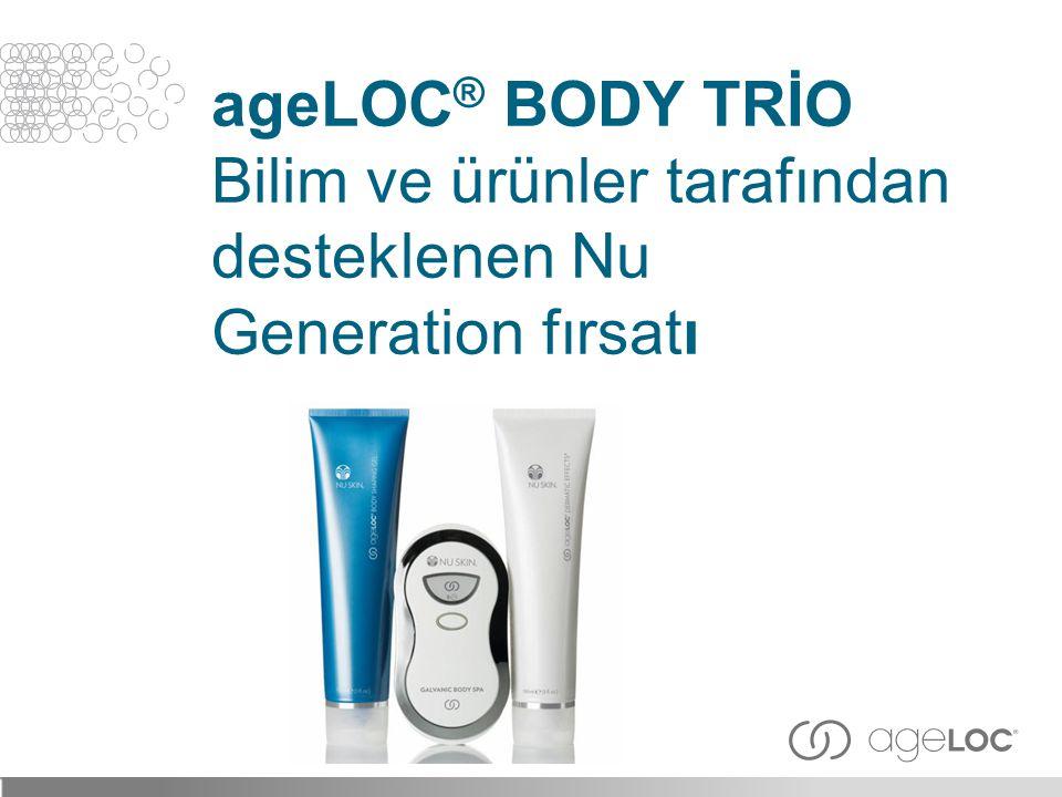 ageLOC® BODY TRİO Bilim ve ürünler tarafından desteklenen Nu Generation fırsatı
