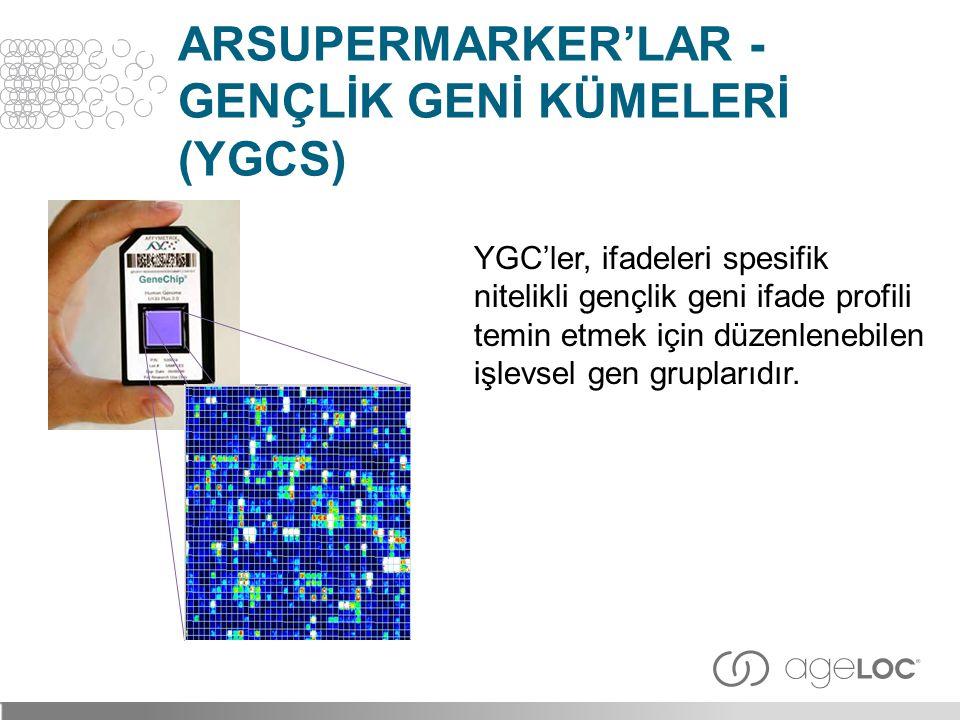 arSuperMarker'lar - GENÇLİK GENİ KÜMELERİ (YGCs)