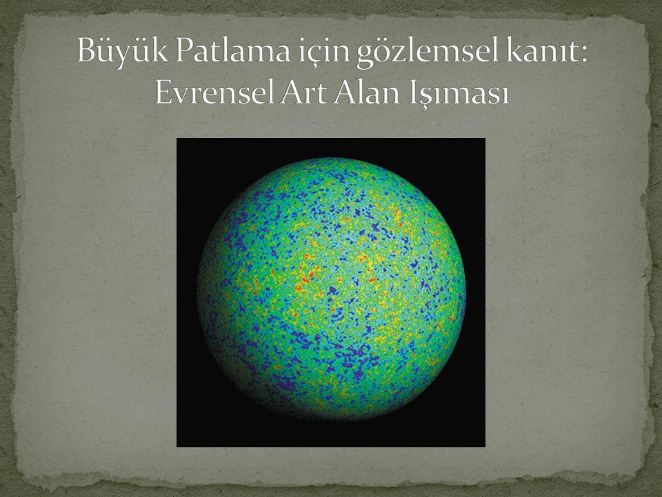 Büyük Patlama için gözlemsel kanıt: Evrensel Art Alan Işıması