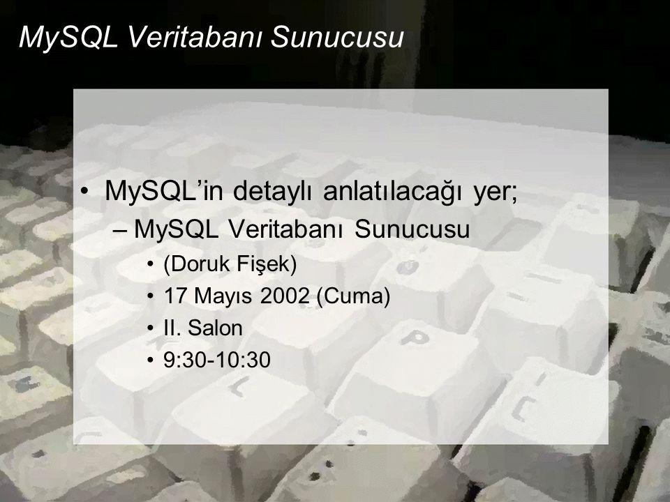 MySQL Veritabanı Sunucusu