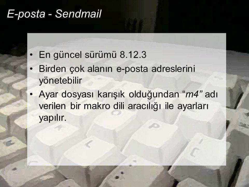 E-posta - Sendmail En güncel sürümü 8.12.3