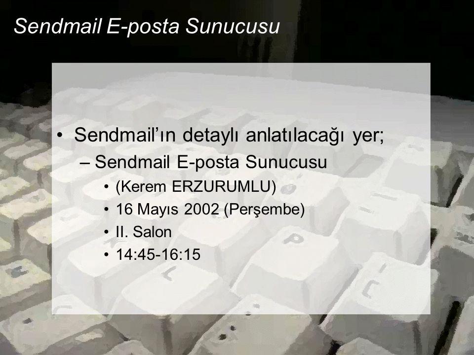 Sendmail E-posta Sunucusu