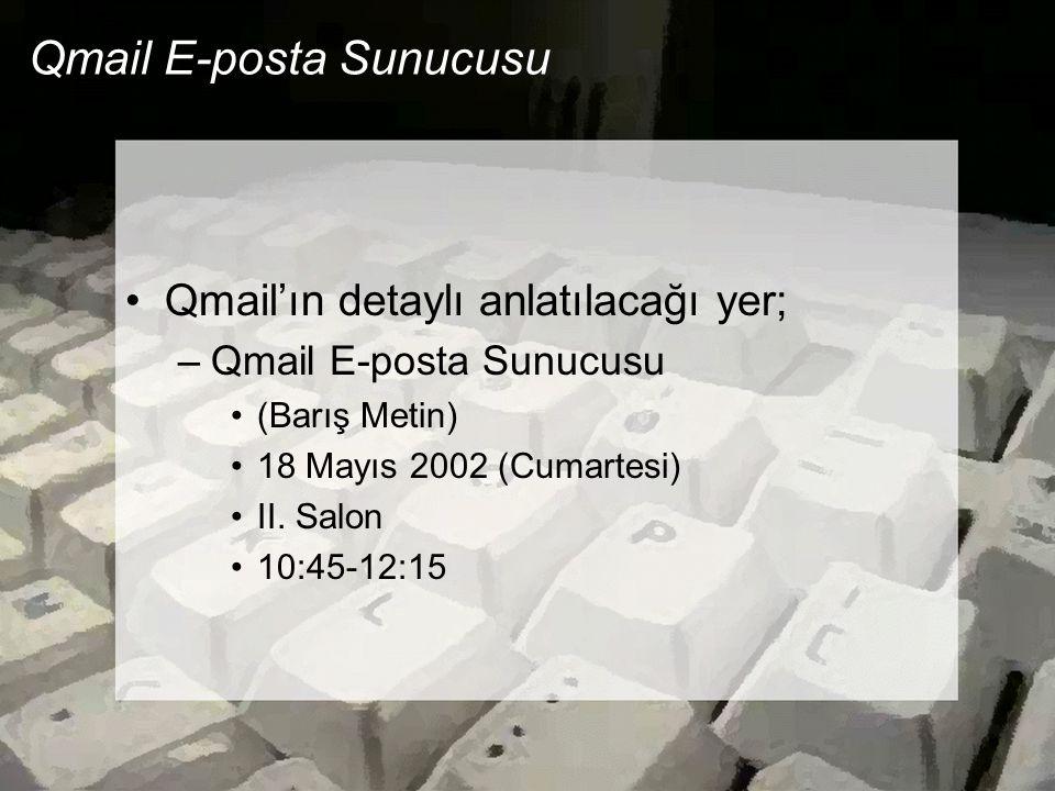 Qmail E-posta Sunucusu