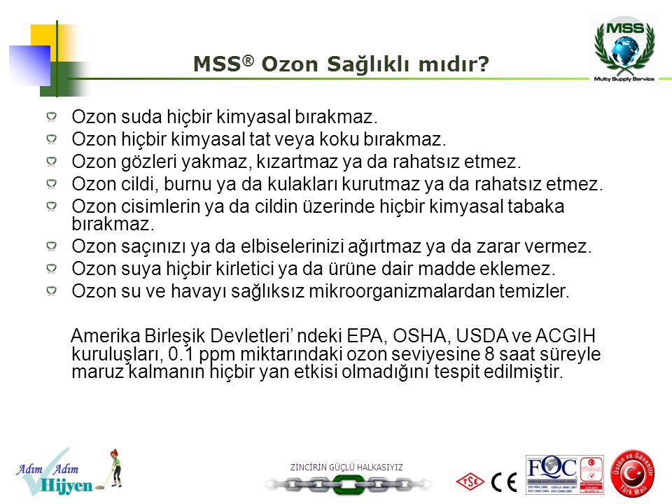 MSS® Ozon Sağlıklı mıdır