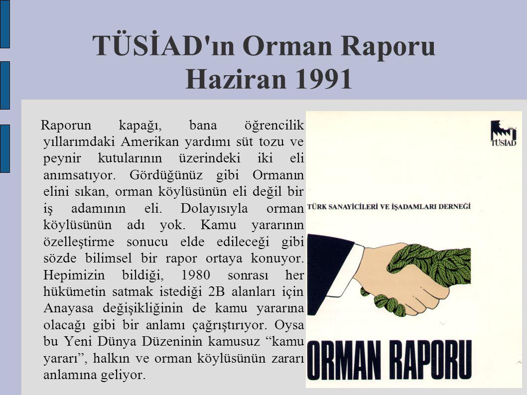 TÜSİAD ın Orman Raporu Haziran 1991