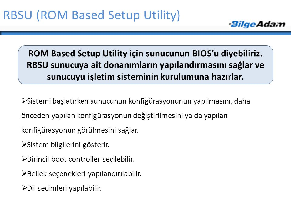 RBSU (ROM Based Setup Utility)