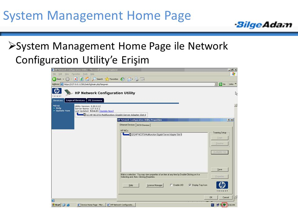 System Management Home Page