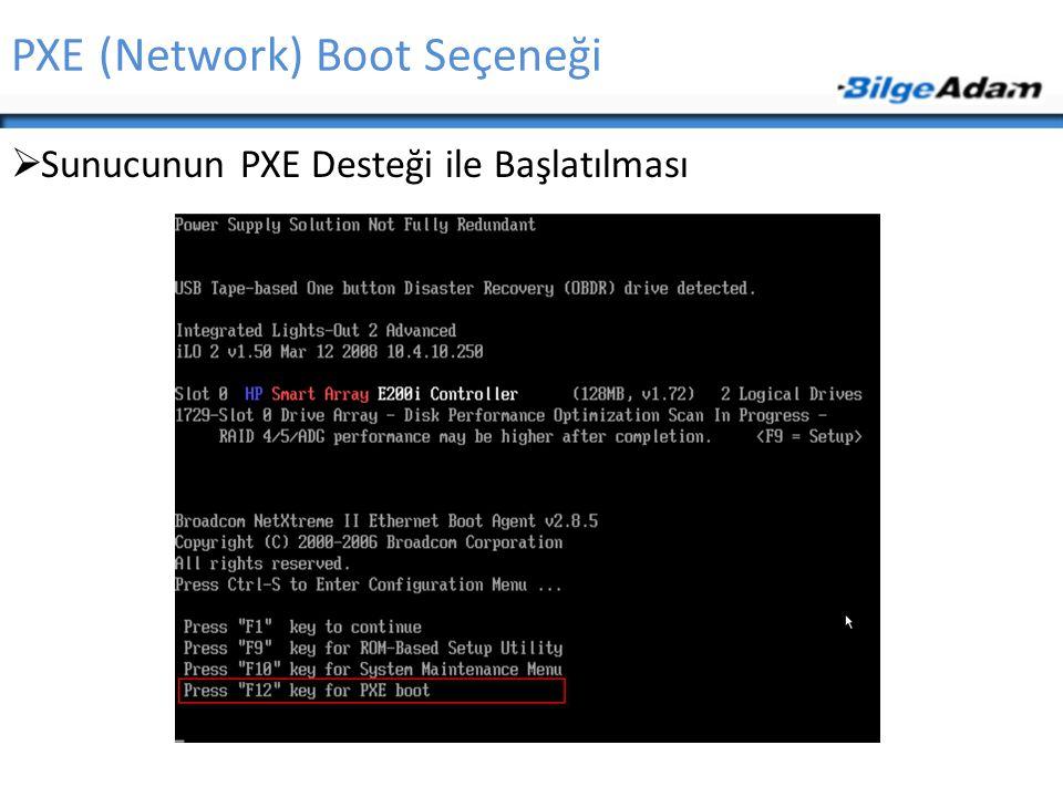 PXE (Network) Boot Seçeneği