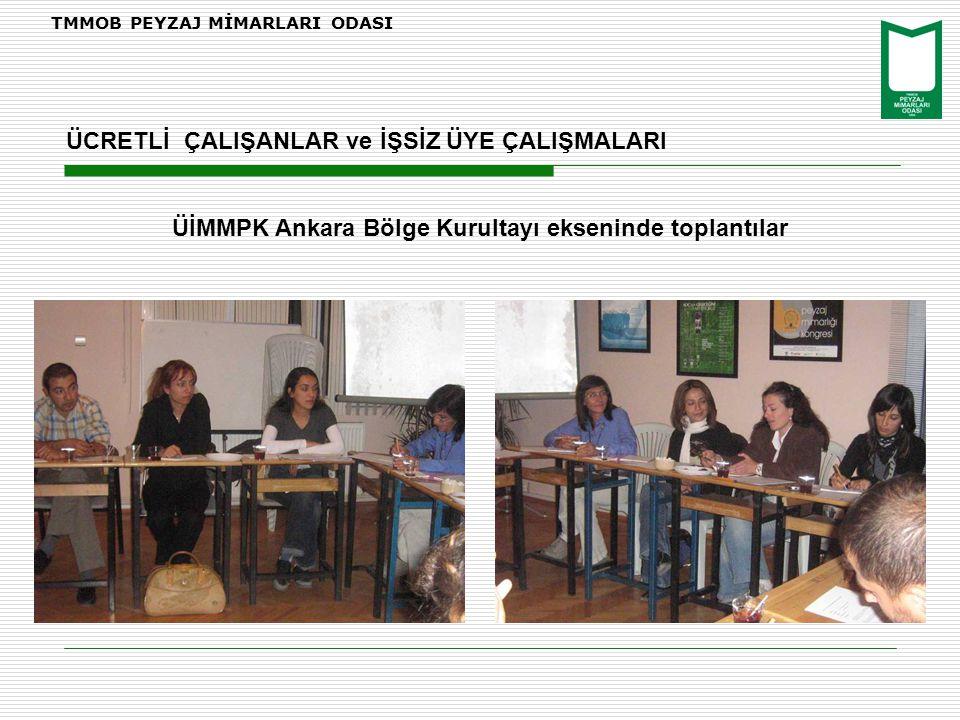 ÜİMMPK Ankara Bölge Kurultayı ekseninde toplantılar