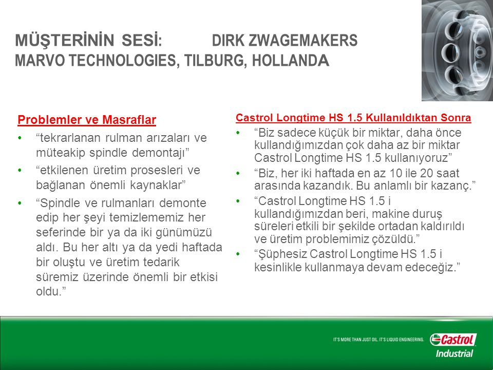 MÜŞTERİNİN SESİ: DIRK ZWAGEMAKERS MARVO TECHNOLOGIES, TILBURG, HOLLANDA