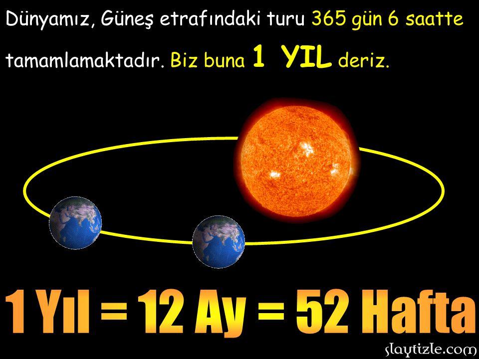 Dünyamız, Güneş etrafındaki turu 365 gün 6 saatte tamamlamaktadır