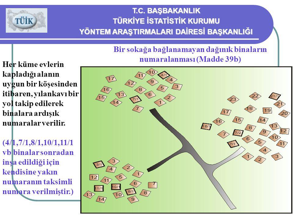 Bir sokağa bağlanamayan dağınık binaların numaralanması (Madde 39b)