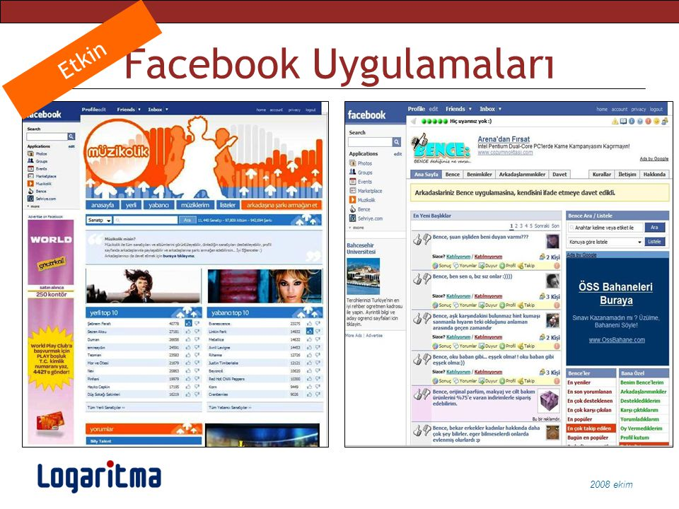Facebook Uygulamaları