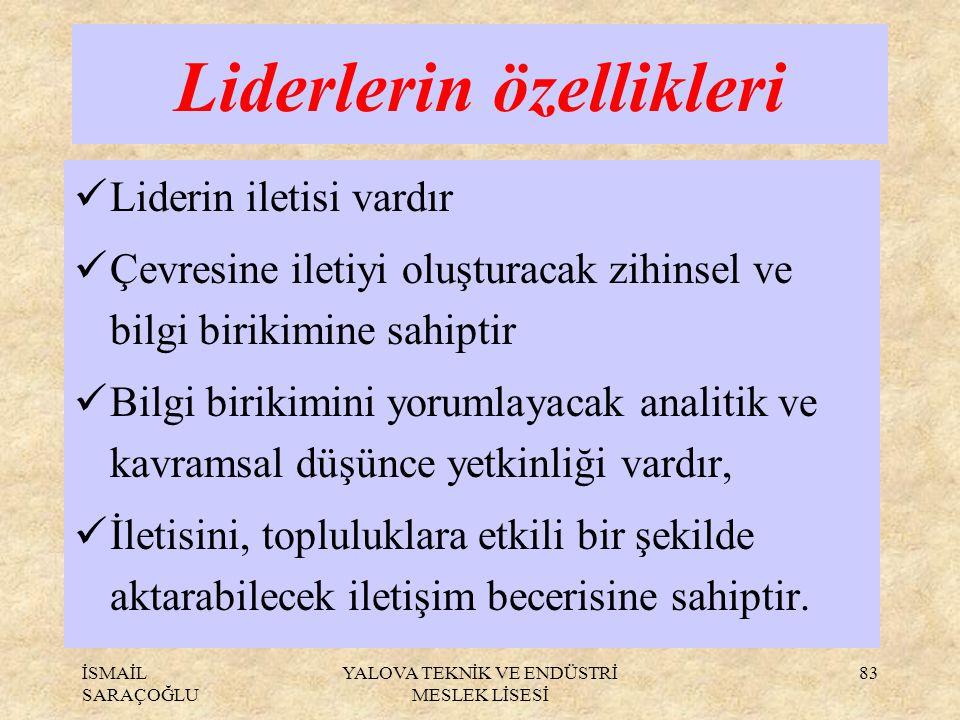 Liderlerin özellikleri