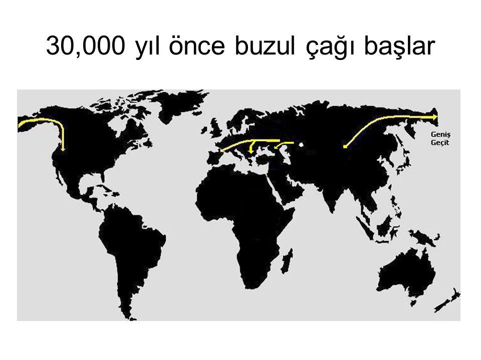 30,000 yıl önce buzul çağı başlar