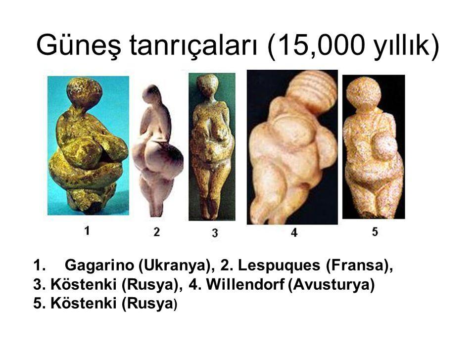 Güneş tanrıçaları (15,000 yıllık)