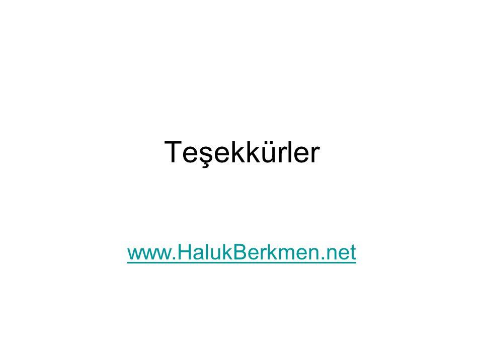 Teşekkürler www.HalukBerkmen.net