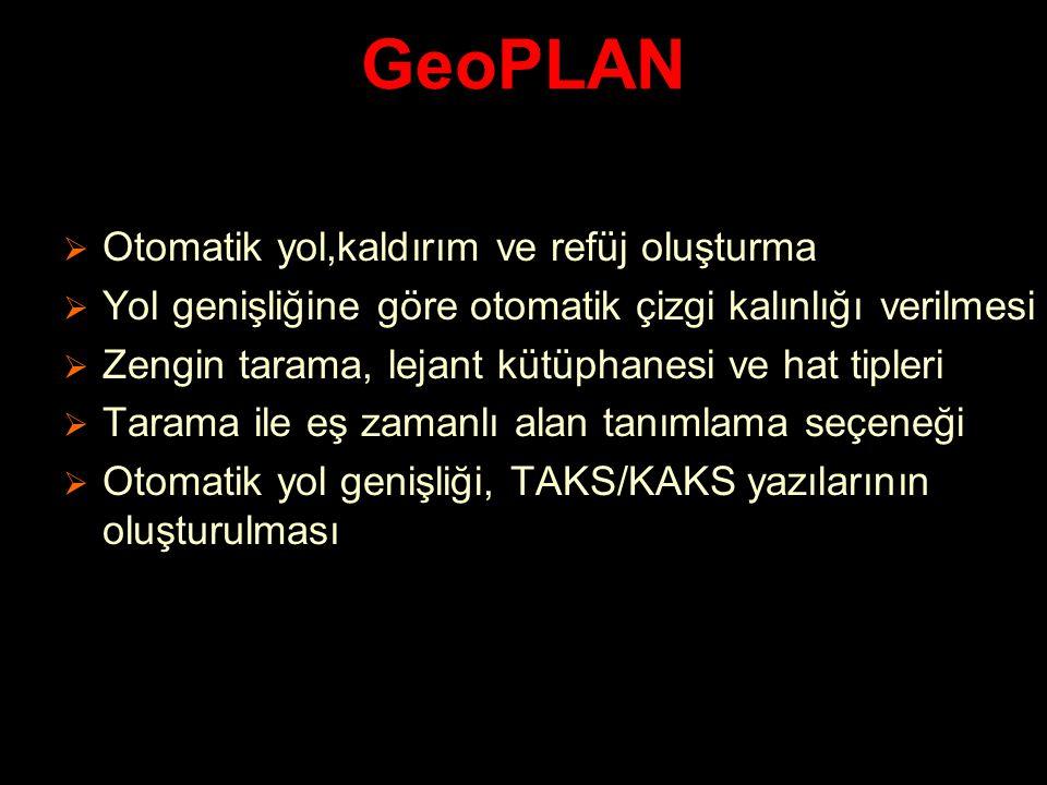 GeoPLAN Otomatik yol,kaldırım ve refüj oluşturma