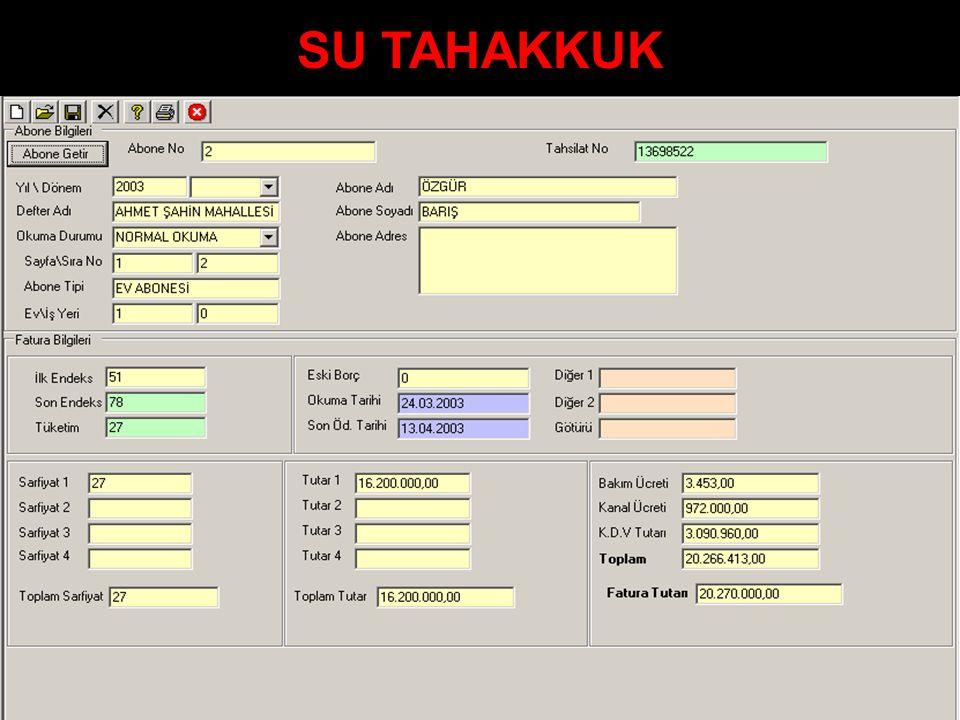 SU TAHAKKUK