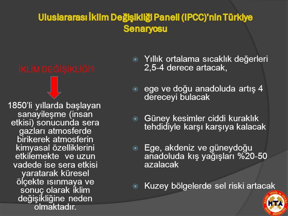Uluslararası İklim Değişikliği Paneli (IPCC)'nin Türkiye Senaryosu