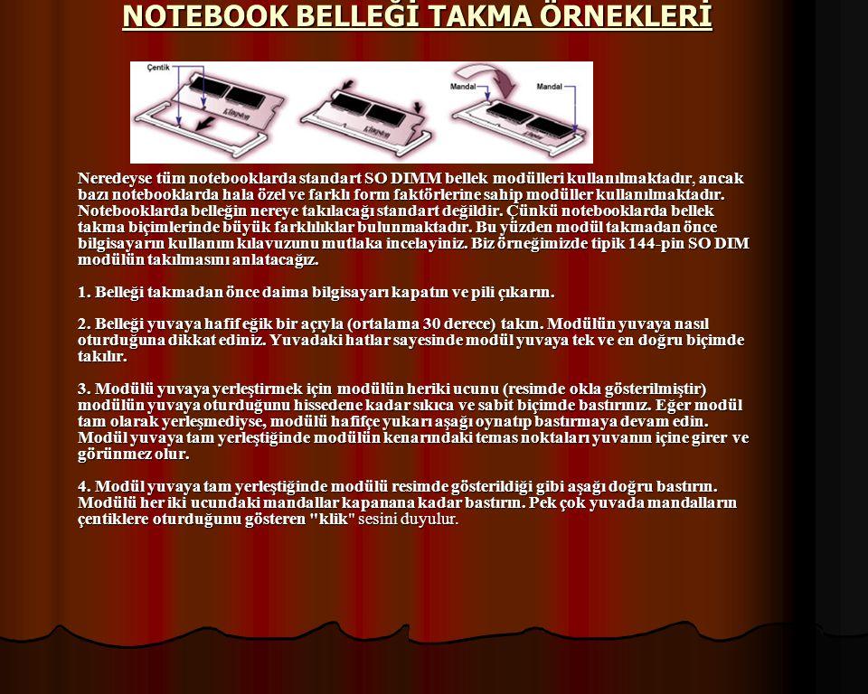 NOTEBOOK BELLEĞİ TAKMA ÖRNEKLERİ