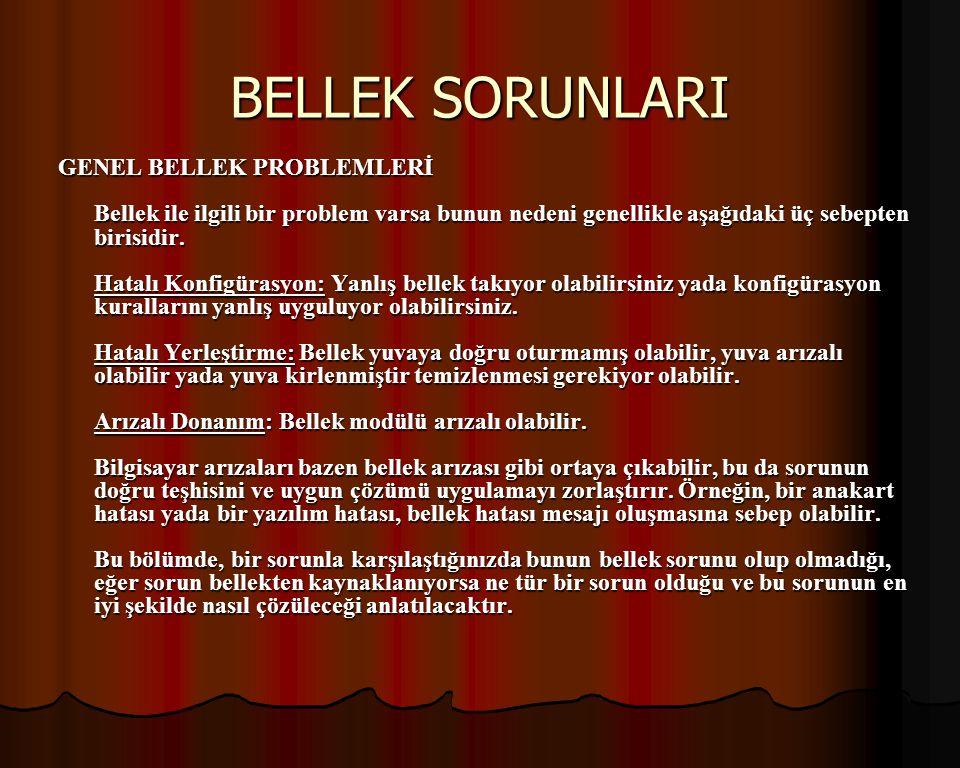 BELLEK SORUNLARI