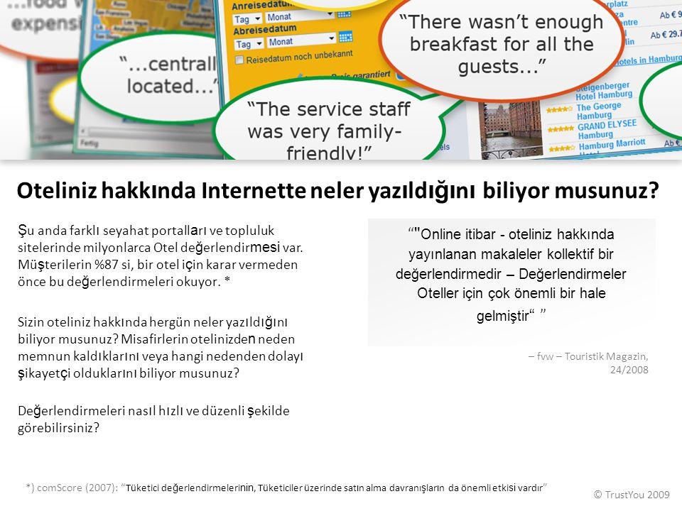 Oteliniz hakkında Internette neler yazıldığını biliyor musunuz