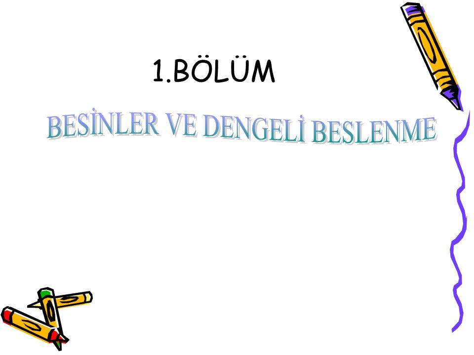 BESİNLER VE DENGELİ BESLENME