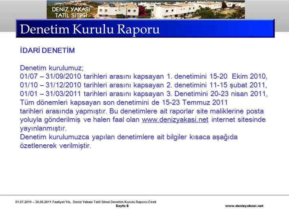 Denetim Kurulu Raporu İDARİ DENETİM Denetim kurulumuz;