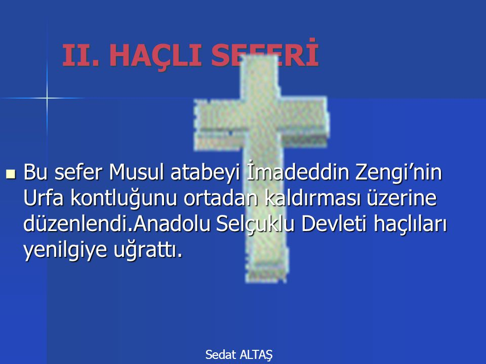 Bu sefer Musul atabeyi İmadeddin Zengi'nin Urfa kontluğunu ortadan kaldırması üzerine düzenlendi.Anadolu Selçuklu Devleti haçlıları yenilgiye uğrattı.
