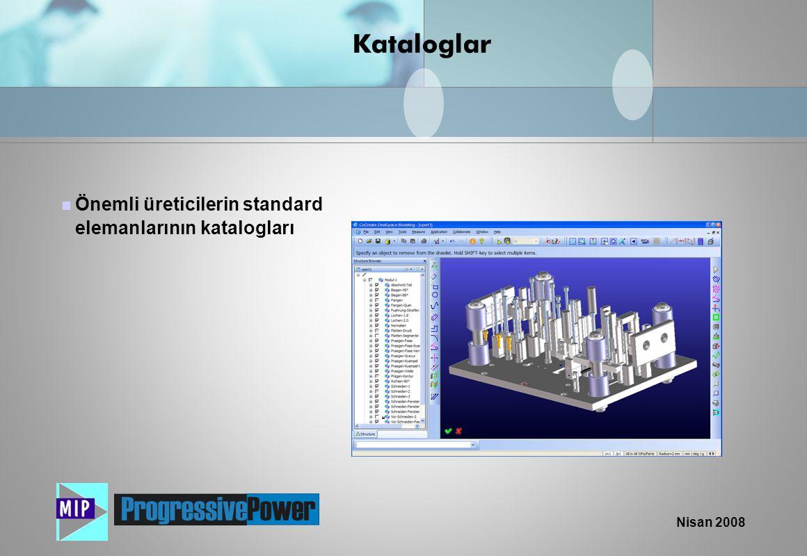 Kataloglar Önemli üreticilerin standard elemanlarının katalogları