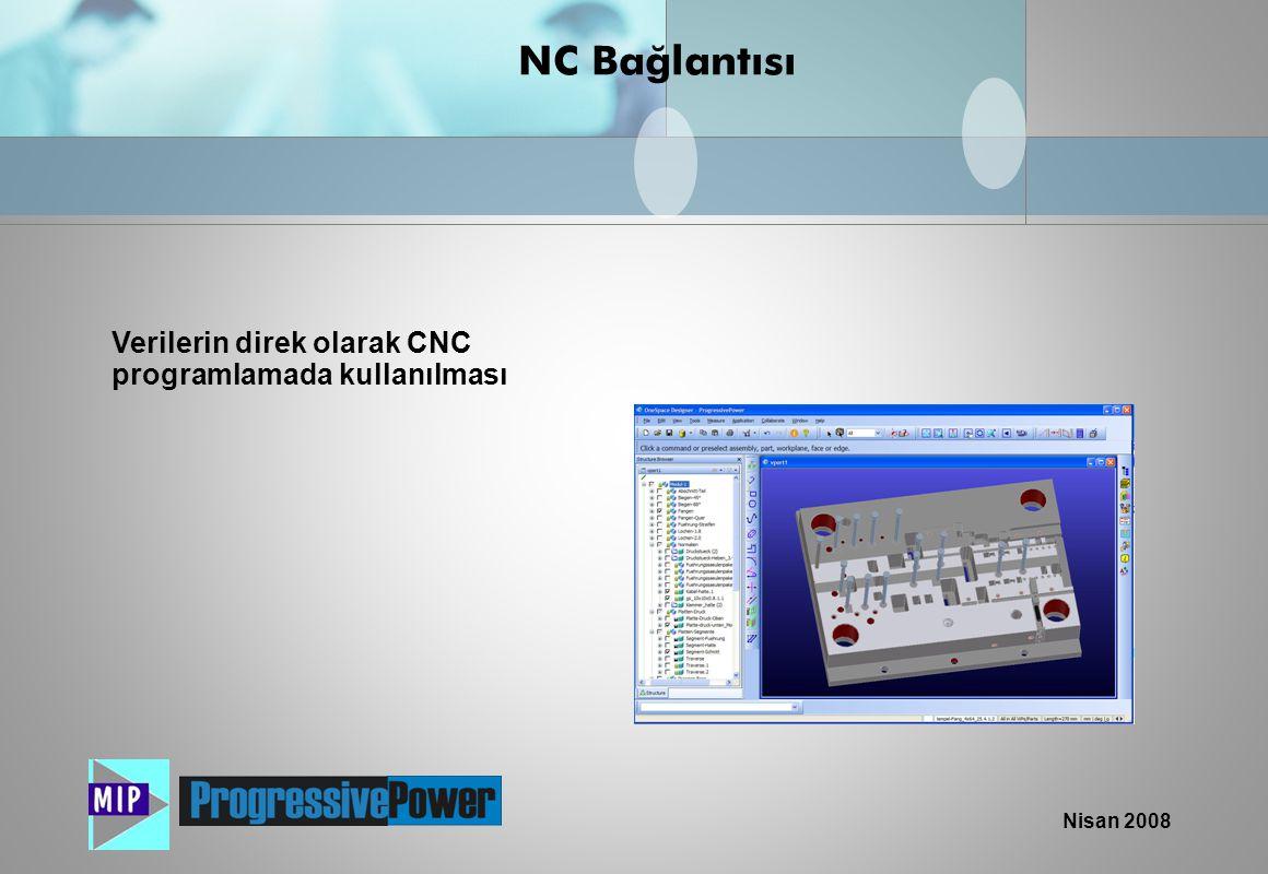 NC Bağlantısı Verilerin direk olarak CNC programlamada kullanılması